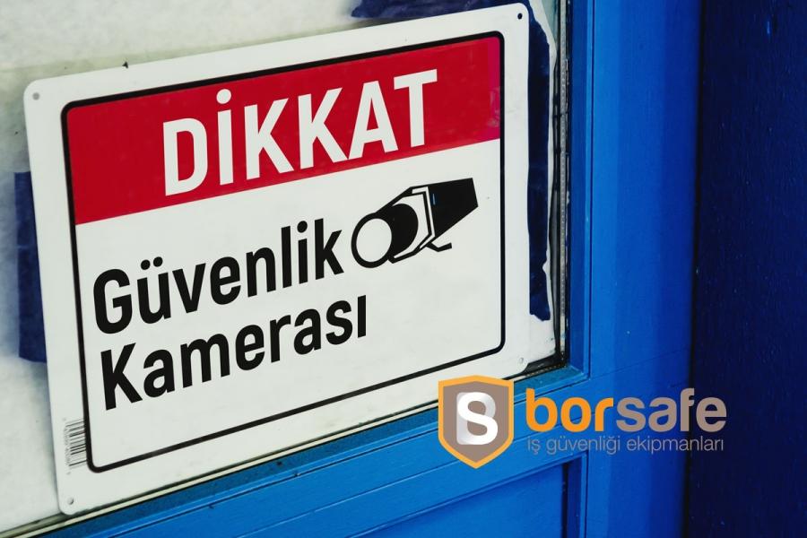 Güvenlik Kamerası Levhası